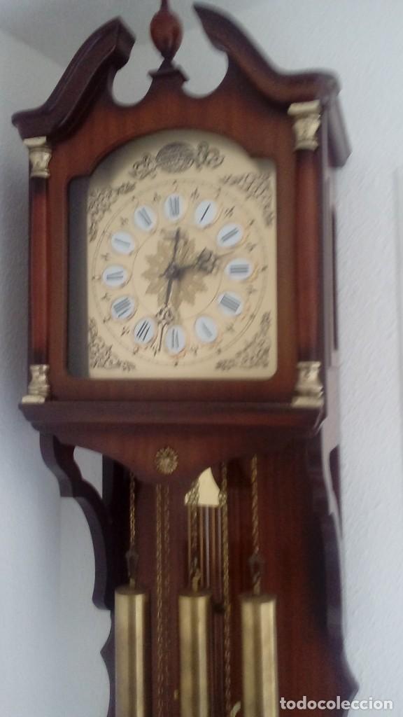 Relojes de pared: RELOJ DE PÉNDULO DE PARED MARCA RADIANT CARRILLÓN CON TRES PESOS . - Foto 3 - 104060727