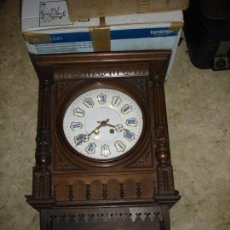 Relojes de pared: MAGNIFICO RELOJ DE PARED EPOCA LOUIS PHILIPPE 1850 GRAN TAMANO ES PRECIOSO. Lote 104093487