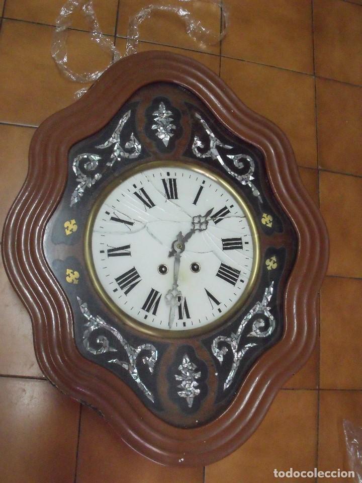 ¡¡GRAN OFERTA !!!!ANTIGUO OJO BUEY PARIS PARA RESTAURAR O PIEZAS- LOTE 72 (Relojes - Pared Carga Manual)