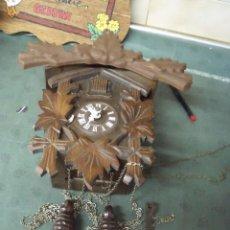Relojes de pared: ANTIGUO CUCO EN MADERA PARA RESTAURAR O PIEZAS- FUNCIONAL Y COMPLETO PERO SIN REVISAR-LOTE 78. Lote 104985087