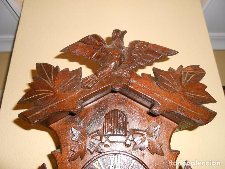 Relojes de pared: ANTIGUO RELOJ CUCU FINALES SIGLO XIX PRINCIPIOS SIGLO XX APROXIMADAMENTE - Foto 4 - 105381627
