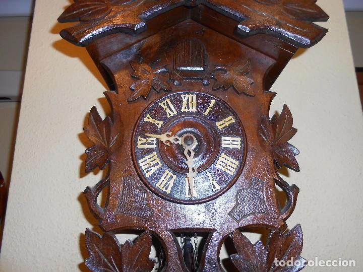 Relojes de pared: ANTIGUO RELOJ CUCU FINALES SIGLO XIX PRINCIPIOS SIGLO XX APROXIMADAMENTE - Foto 5 - 105381627