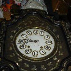 Relojes de pared: ESPLENDIDO RELOJ OJO DE BUEY MAQUINA MORETZ MARQUETERIA NACAR DENTRO Y FUERA NUMEROS CARTOUCHES. Lote 107596971