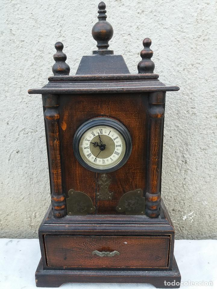Reloj de madera imitacion a antiguo vendido en venta directa 111485415 - Relojes pared antiguos ...