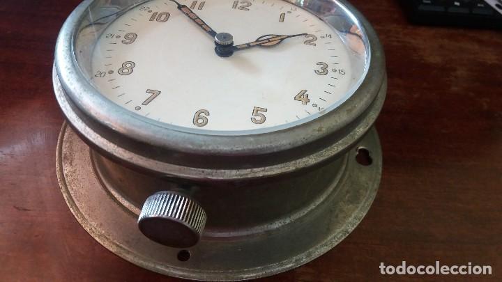 ANTIGUO RELOJ DE SUBMARINO, BARCO FABRICADO EN LA ANTIGUA URSS, RUSO, SOVIÉTICO. (Relojes - Pared Carga Manual)