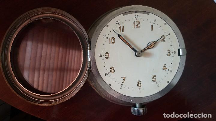 Relojes de pared: ANTIGUO RELOJ DE SUBMARINO, BARCO FABRICADO EN LA ANTIGUA URSS, RUSO, SOVIÉTICO. - Foto 2 - 111690383