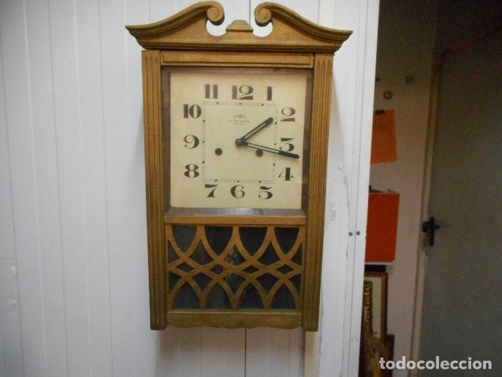 CURIOSO RELOJ REGULADOR BAGUES FUNCIONANDO (Relojes - Pared Carga Manual)
