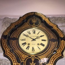 Relojes de pared: RELOJ OJO DE BUEY. ESPECTACULAR MARQUETERÍA. Lote 91020115