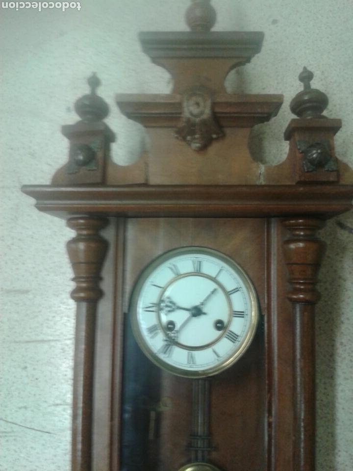 Relojes de pared: ANTIGUO RELOJ DE PARED DE PENDULO ISABELINO PSXX. - Foto 2 - 113001228
