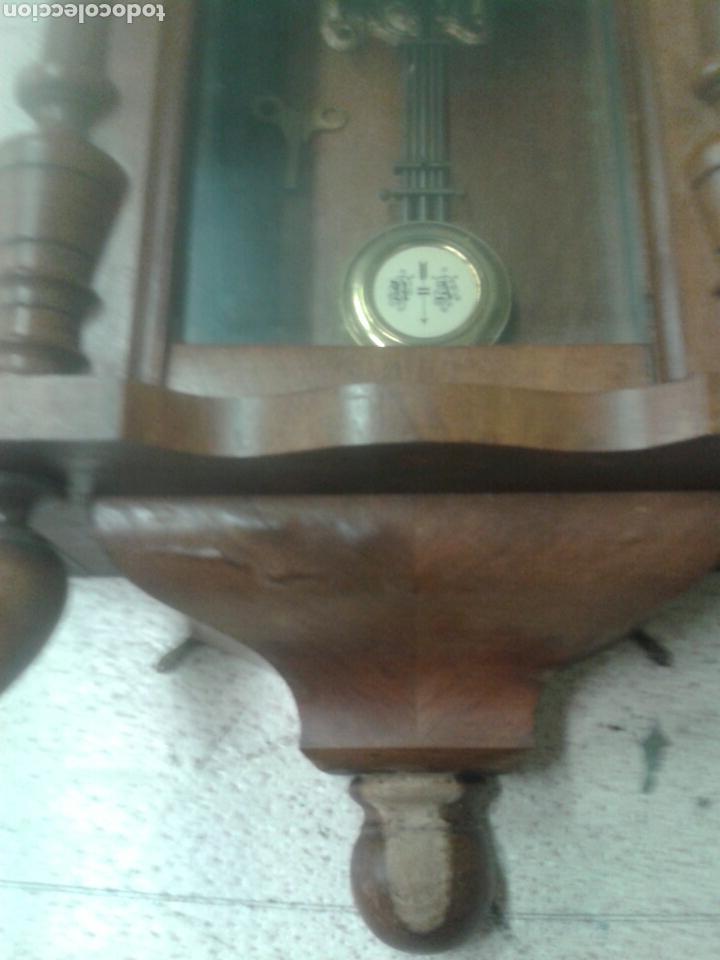 Relojes de pared: ANTIGUO RELOJ DE PARED DE PENDULO ISABELINO PSXX. - Foto 4 - 113001228