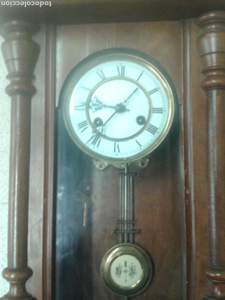 Relojes de pared: ANTIGUO RELOJ DE PARED DE PENDULO ISABELINO PSXX. - Foto 5 - 113001228