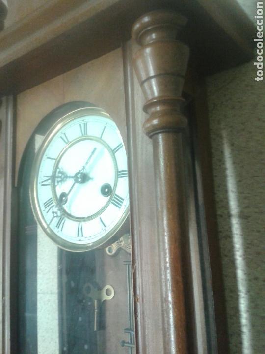 Relojes de pared: ANTIGUO RELOJ DE PARED DE PENDULO ISABELINO PSXX. - Foto 6 - 113001228