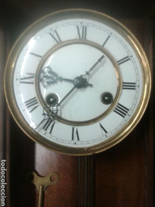 Relojes de pared: ANTIGUO RELOJ DE PARED DE PENDULO ISABELINO PSXX. - Foto 7 - 113001228