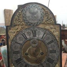 Relojes de pared: RELOJ POSIBLEMENTE ALEMÁN DE PP. SIGLO XVIII. FIRMADO: NICOLAUS DEDEMAN.. Lote 113190583