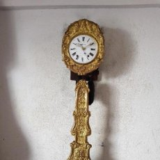 Relojes de pared: RELOJ MOREZ ANTIGUO DE CAMPANA MUY DETALLADO EN ORO FINO AL MERCURIO CASI A ESTRENAR FUNCIONA MIRA. Lote 113256643