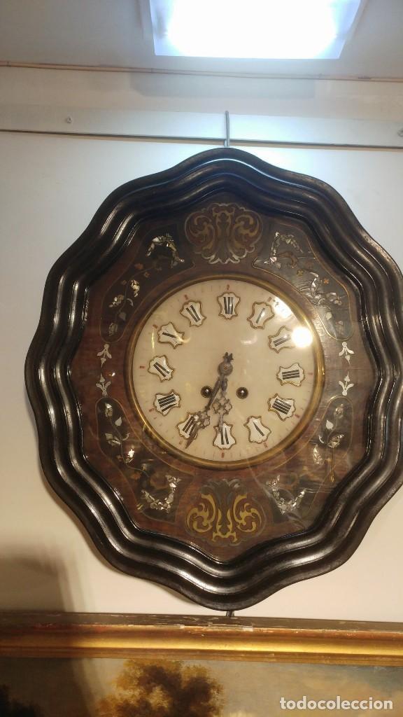 RELOJ DE PARED SIGLO XIX (Relojes - Pared Carga Manual)