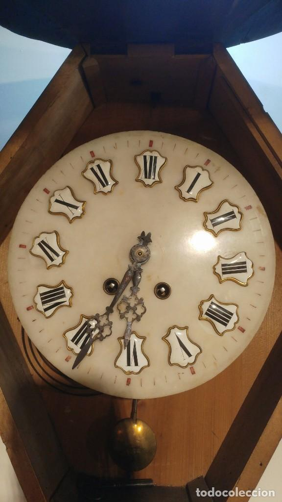 Relojes de pared: RELOJ DE PARED SIGLO XIX - Foto 8 - 113907867