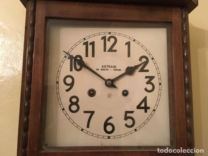 Relojes de pared: RELOJ DE PARED. ASTRAIN. SAN SEBASTIÁN, PAMPLONA. - Foto 7 - 113917375