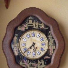 Relojes de pared: ANTIGUO OJO BUEY PARIS- DECORADO A MANO CON MOTIVOS JAPONESES- AÑO 1890. Lote 114267903