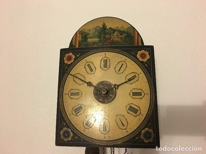 Relojes de pared: ANTIGUO RELOJ DE PARED, FUNCIONA - Foto 2 - 114767179