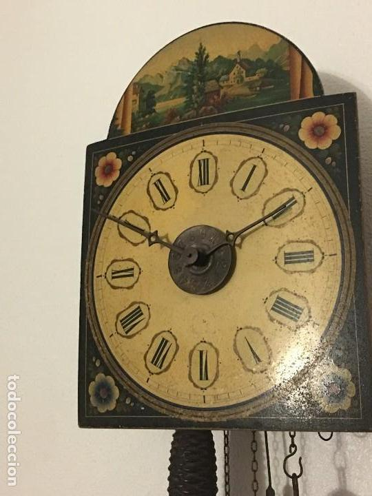 Relojes de pared: ANTIGUO RELOJ DE PARED, FUNCIONA - Foto 3 - 114767179