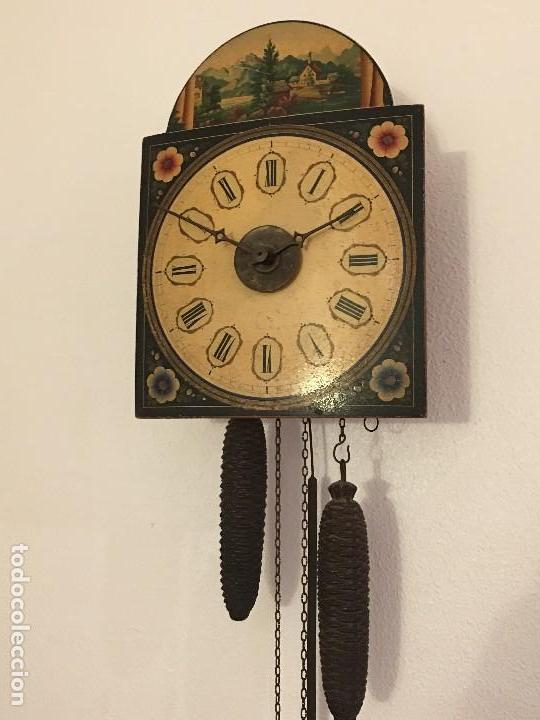 Relojes de pared: ANTIGUO RELOJ DE PARED, FUNCIONA - Foto 8 - 114767179