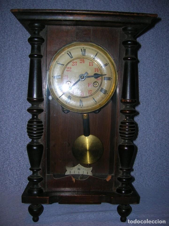 ¡¡GRAN OFERTA!! ANTIGUO RELOJ ALFONSINO JUNGHANS DE ALEMANIA- AÑO 1910- FUNCIONAL (Relojes - Pared Carga Manual)