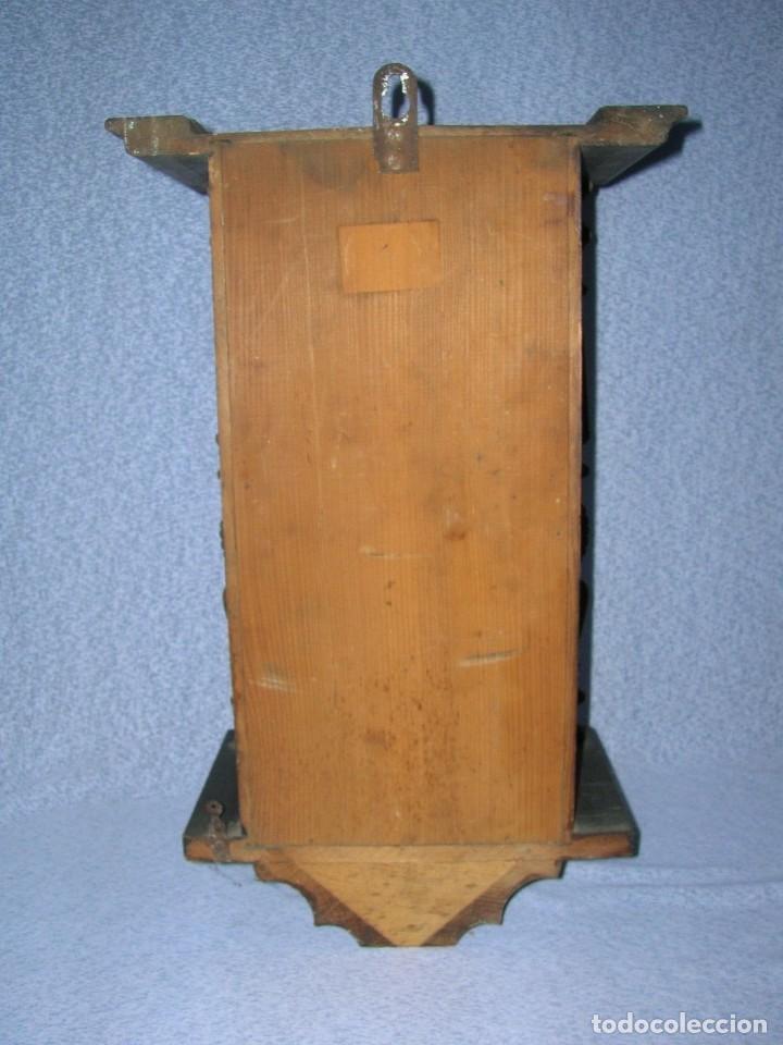Relojes de pared: ¡¡gran oferta!! ANTIGUO RELOJ ALFONSINO JUNGHANS de Alemania- año 1910- funcional - Foto 2 - 114977591