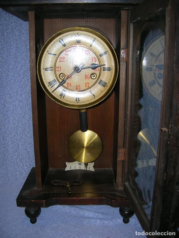 Relojes de pared: ¡¡gran oferta!! ANTIGUO RELOJ ALFONSINO JUNGHANS de Alemania- año 1910- funcional - Foto 4 - 114977591