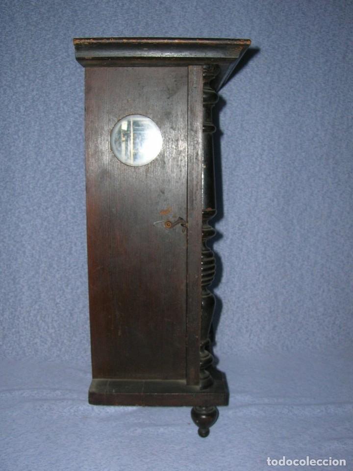 Relojes de pared: ¡¡gran oferta!! ANTIGUO RELOJ ALFONSINO JUNGHANS de Alemania- año 1910- funcional - Foto 6 - 114977591