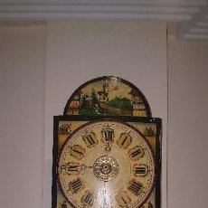 Relojes de pared: PRECIOSO RELOJ RATERA,CARGA MANUAL Y MADERA POLICROMADA.. Lote 115148963