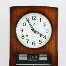 Relojes de pared: RELOJ DE PARED DE CARGA MANUAL - 31 DÍAS, CALENDARIO - COREA / KOREA - MEDIDAS 28 X 11,5 X 48,5 CM. Lote 115457191