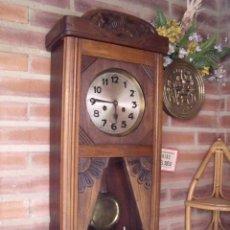 Relojes de pared: ¡¡GRAN OFERTA!! ANTIGUO RELOJ ART-NOUVEAU DE ALEMANIA- AÑO 1920- FUNCIONA BIEN. Lote 115477459