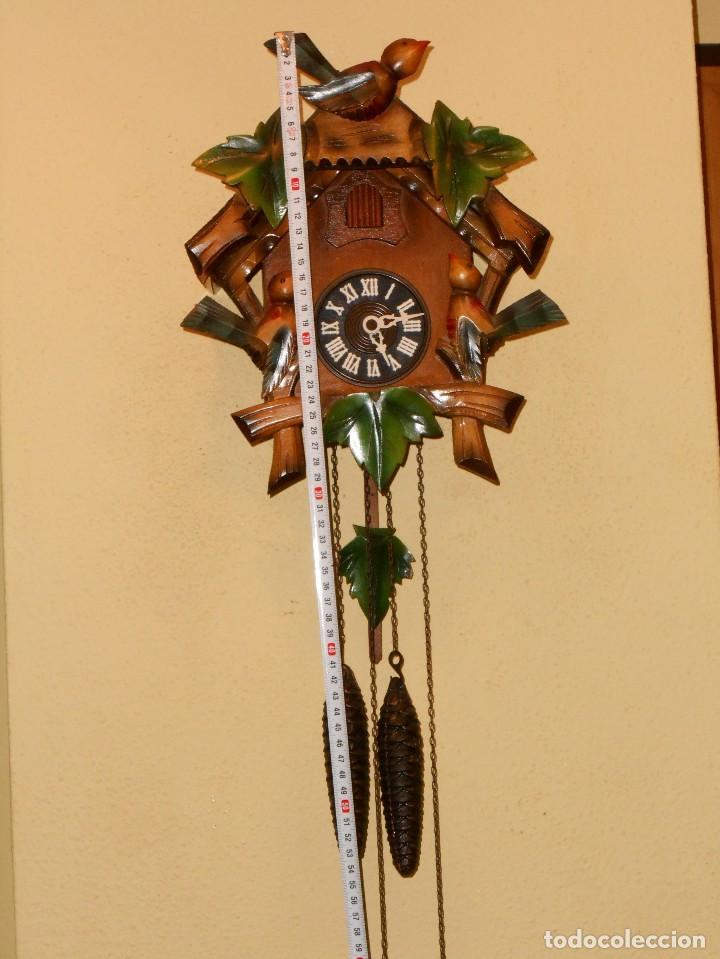 Relojes de pared: ANTIGUO Y RARO RELOJ CUCU-CUCO,MECÁNICO Y EN FUNCIONAMIENTO.MADE IN WEST GERMANY. - Foto 2 - 115743243