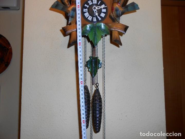 Relojes de pared: ANTIGUO Y RARO RELOJ CUCU-CUCO,MECÁNICO Y EN FUNCIONAMIENTO.MADE IN WEST GERMANY. - Foto 3 - 115743243