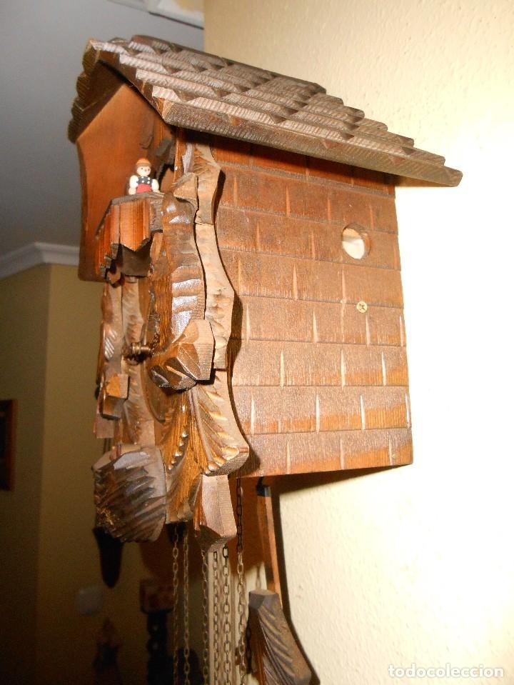 Relojes de pared: RELOJ CUCU-CUCO CON CARRUSEL MUSICAL ALEMÁN(SELVA NEGRA).TOTALMENTE MECÁNICO Y FUNCIONANDO BIEN.. - Foto 6 - 116293139