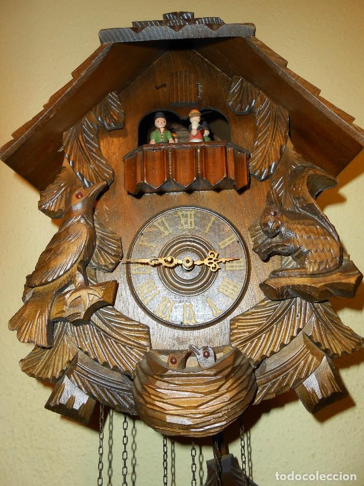 Relojes de pared: RELOJ CUCU-CUCO CON CARRUSEL MUSICAL ALEMÁN(SELVA NEGRA).TOTALMENTE MECÁNICO Y FUNCIONANDO BIEN.. - Foto 7 - 116293139