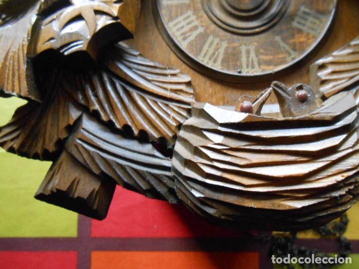 Relojes de pared: RELOJ CUCU-CUCO CON CARRUSEL MUSICAL ALEMÁN(SELVA NEGRA).TOTALMENTE MECÁNICO Y FUNCIONANDO BIEN.. - Foto 11 - 116293139