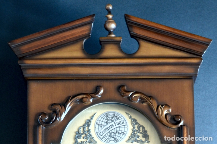 Relojes de pared: EXCEPCIONAL ANTIGUO RELOJ DE PARED CON SONERIA J. PASTOR 1940 CARGA MANUAL Y CAJA DE NOGAL - Foto 3 - 56802694