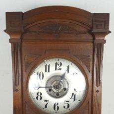 Relojes de pared: CAJA DE RELOJ DE PARED. MADERA DE NOGAL. ROHRGONG. ALEMANIA. SIGLO XIX-XX. . Lote 117122691