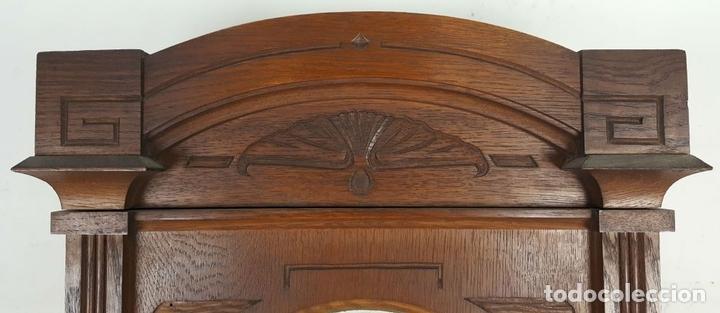 Relojes de pared: CAJA DE RELOJ DE PARED. MADERA DE NOGAL. ROHRGONG. ALEMANIA. SIGLO XIX-XX. - Foto 3 - 117122691