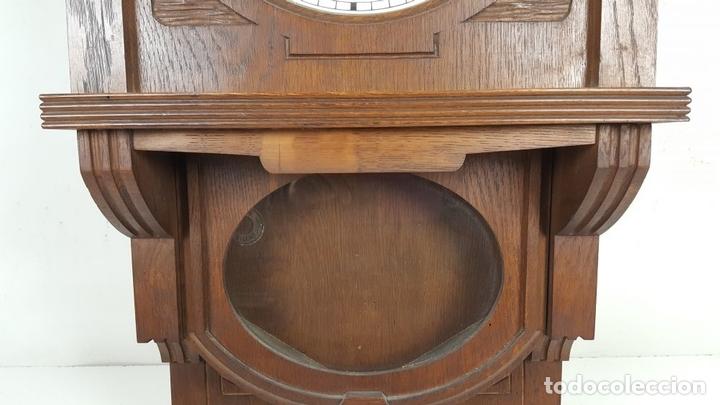 Relojes de pared: CAJA DE RELOJ DE PARED. MADERA DE NOGAL. ROHRGONG. ALEMANIA. SIGLO XIX-XX. - Foto 4 - 117122691
