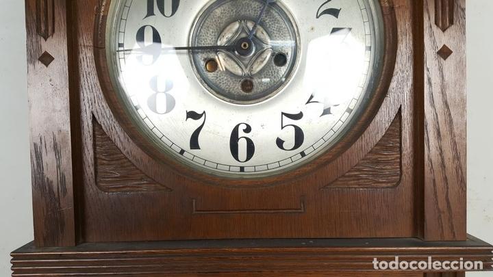 Relojes de pared: CAJA DE RELOJ DE PARED. MADERA DE NOGAL. ROHRGONG. ALEMANIA. SIGLO XIX-XX. - Foto 5 - 117122691