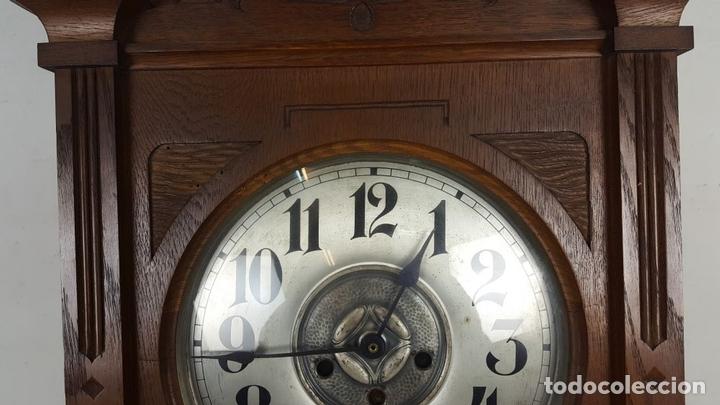 Relojes de pared: CAJA DE RELOJ DE PARED. MADERA DE NOGAL. ROHRGONG. ALEMANIA. SIGLO XIX-XX. - Foto 6 - 117122691