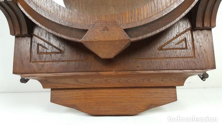 Relojes de pared: CAJA DE RELOJ DE PARED. MADERA DE NOGAL. ROHRGONG. ALEMANIA. SIGLO XIX-XX. - Foto 7 - 117122691