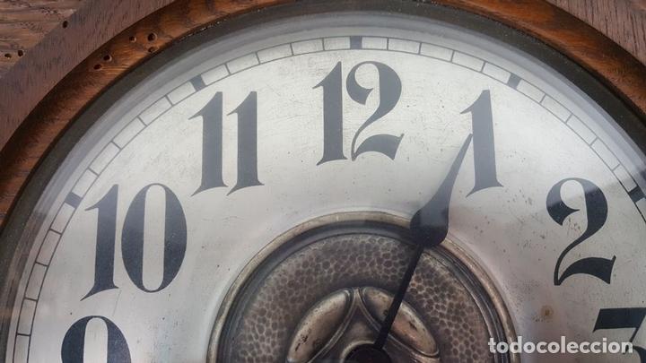 Relojes de pared: CAJA DE RELOJ DE PARED. MADERA DE NOGAL. ROHRGONG. ALEMANIA. SIGLO XIX-XX. - Foto 10 - 117122691
