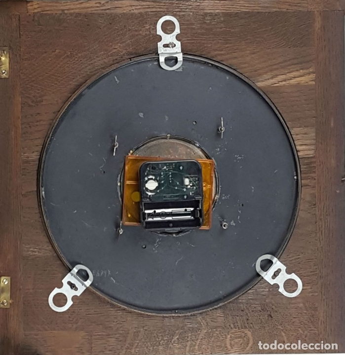 Relojes de pared: CAJA DE RELOJ DE PARED. MADERA DE NOGAL. ROHRGONG. ALEMANIA. SIGLO XIX-XX. - Foto 11 - 117122691