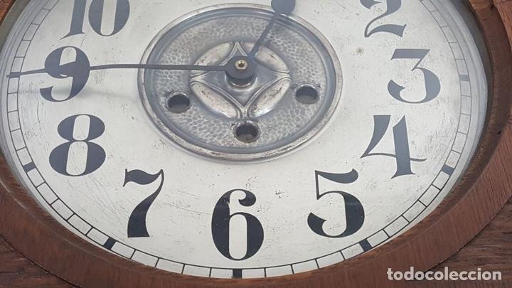 Relojes de pared: CAJA DE RELOJ DE PARED. MADERA DE NOGAL. ROHRGONG. ALEMANIA. SIGLO XIX-XX. - Foto 14 - 117122691