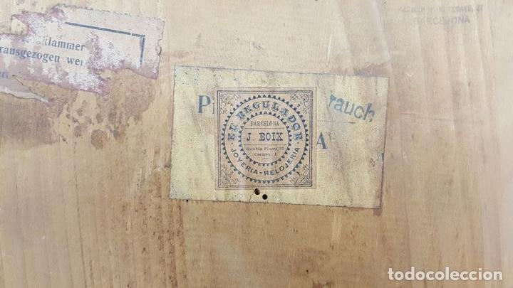 Relojes de pared: CAJA DE RELOJ DE PARED. MADERA DE NOGAL. ROHRGONG. ALEMANIA. SIGLO XIX-XX. - Foto 19 - 117122691
