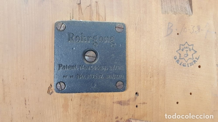 Relojes de pared: CAJA DE RELOJ DE PARED. MADERA DE NOGAL. ROHRGONG. ALEMANIA. SIGLO XIX-XX. - Foto 21 - 117122691